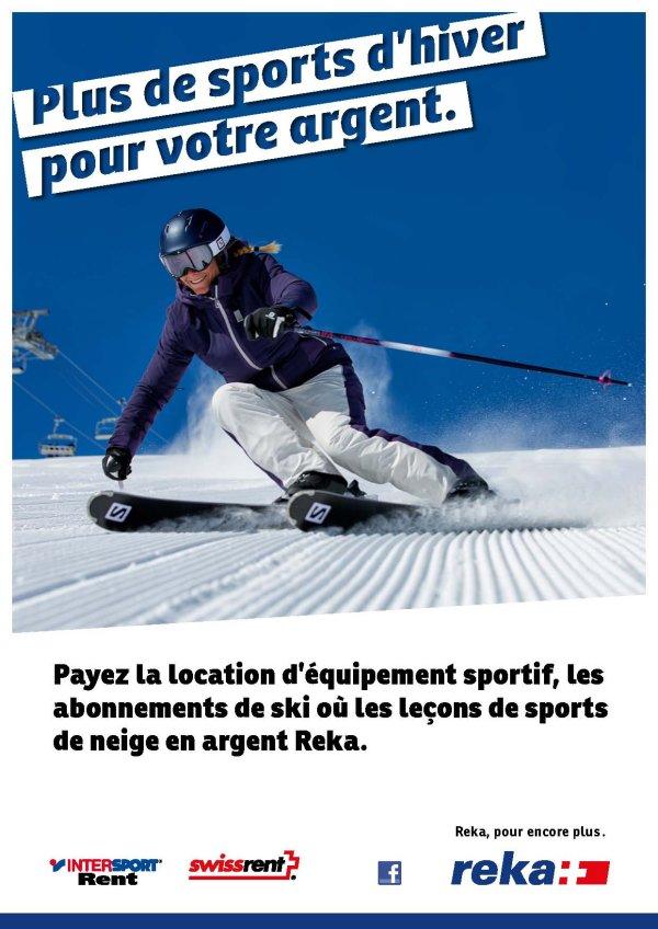 """Flyer """"Plus de sport pour votre argent"""""""